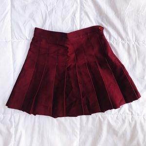 Maroon American Apparel Tennis Skirt